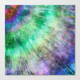Tie Dye Watercolor Abstract Canvas Print