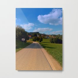 The end of the village   landscape photography Metal Print