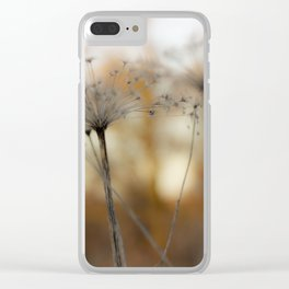 Sunset grass Clear iPhone Case