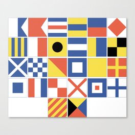 Nautical Flags Canvas Print
