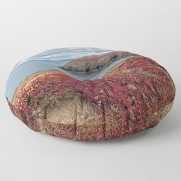 Irish Pomegranate Coast Floor Pillow