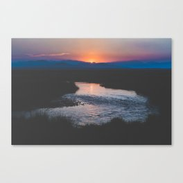Long Valley Sunset Canvas Print