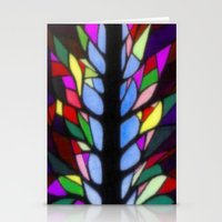 stained glass Stationery Cards featuring Stained Glass by Sartoris ART