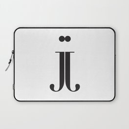 """Mirrored - The Didot """"j"""" Project Laptop Sleeve"""