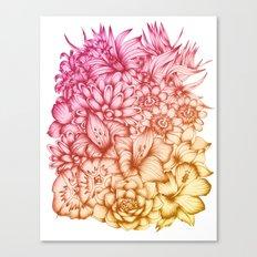 Tropical Flowers II Canvas Print
