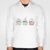 cupcakes Hoodies featuring Cupcakes by Martina