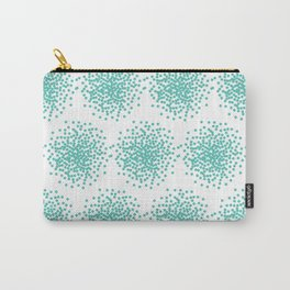 Abstract bright turquoise dotted background Carry-All Pouch