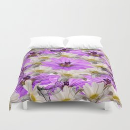 Floral Circle Abstract Duvet Cover