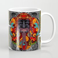 sacred geometry Mugs featuring Sacred Geometry by Robin Curtiss