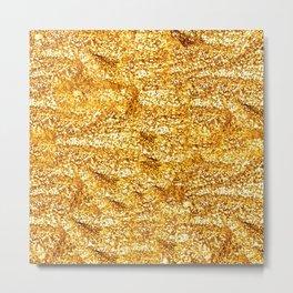 Gold Glittering Gold Metal Print