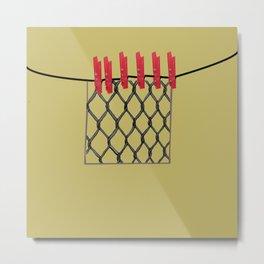 Fancy laundry pop art print Metal Print