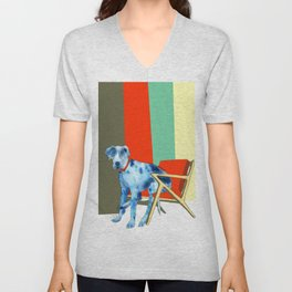 Great Dane in Chair #1 Unisex V-Neck