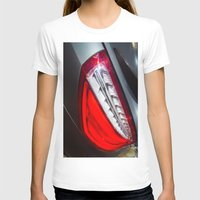 mercedes T-shirts featuring Mercedes-Benz SL 63 AMG Bi-Turbo Back Light by Mauricio Santana