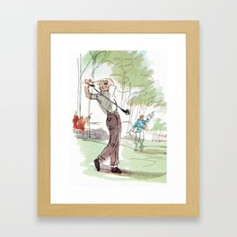 Are You Looking At My Putt? Vintage Golf Framed Art Print