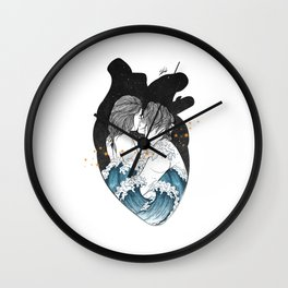 The ocean heart. Wall Clock