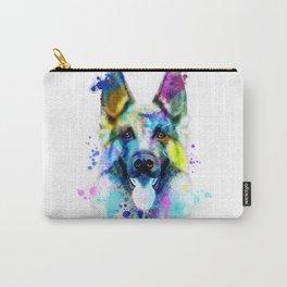 German Shepherd Watercolor, Watercolor Dog print, German Shepherd Print, German Shepherd Art Carry-All Pouch