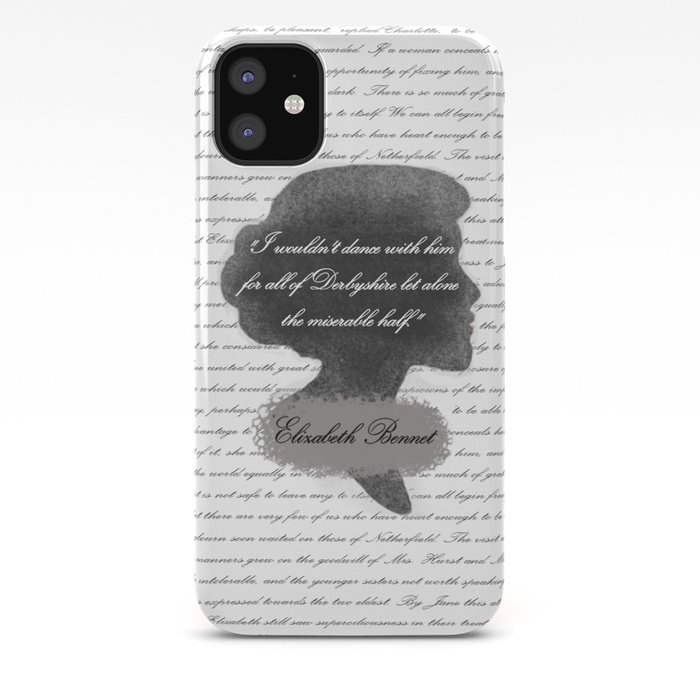 best loved d82a1 472a5 Elizabeth Bennet - Quote about Mr. Darcy iPhone Case by the_luxen_artist