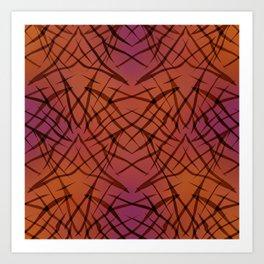 Brown red pattern . Art Print