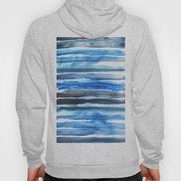 blue brush stroke Hoody