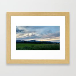 A photo of Mt Greylock in Cheshire MA Framed Art Print