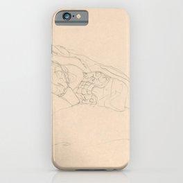 Gustav Klimt - Curled up Girl on Bed iPhone Case
