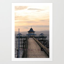 To the End of the Pier Art Print