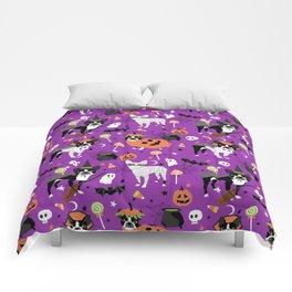 Boston Terrier Halloween - dog, dogs, dog breed, dog costume, cosplay cute dog Comforters