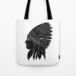Indian Chief / Black Edition Tote Bag