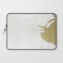 White on Gold Dublin Street Map Laptop Sleeve