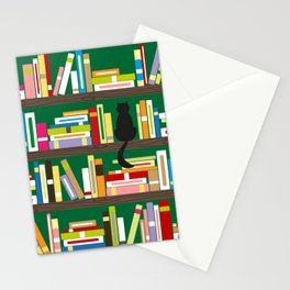 Library Cat Stationery Cards