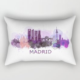 Madrid City Skyline HQ Rectangular Pillow