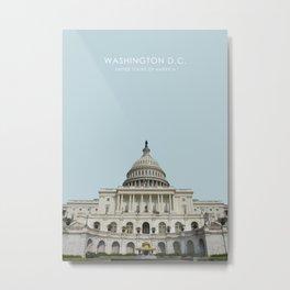 Washington D.C. Travel Artwork Metal Print