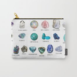 crystals gemstones identification Carry-All Pouch