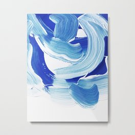 Classic Blue Brush Stroke #pantone2020 Metal Print