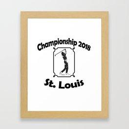 campeonato de gol 2018 Framed Art Print