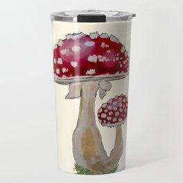 Fly Agaric Cream Travel Mug