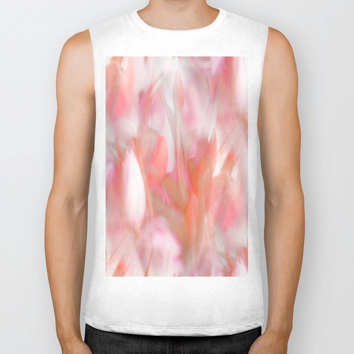 Pink Tulips Abstract Nature Spring Atmosphere Biker Tank
