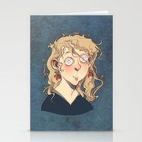 luna lovegood Stationery Cards featuring Luna Lovegood by Naïs Quin