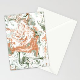 Marble of autumn Stationery Cards