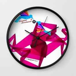 Paper Birds Wall Clock