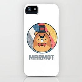 Vintage Cute Wildlife Marmot Colorful Retro Animals iPhone Case