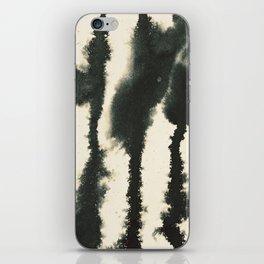 watercolor lines iPhone Skin