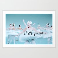 1989 Art Prints featuring 1989 Party by taylorsvift
