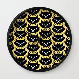Mid Century Modern Cat Black Yellow Wall Clock