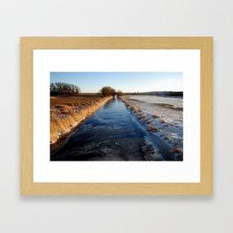 the borderline Framed Art Print
