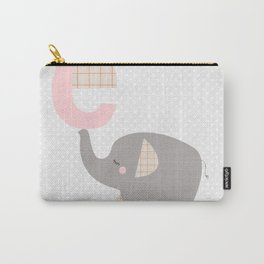 letter E - elephant - initial, personalized gift Carry-All Pouch