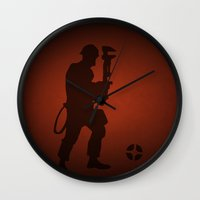 engineer Wall Clocks featuring Engineer by samread