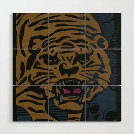 Golden Tiger Wood Wall Art