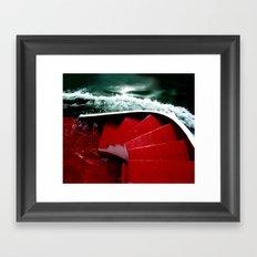 green-red Framed Art Print