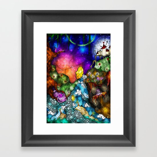 Wonderland (Once Upon A Time Series) Framed Art Print